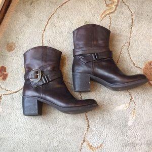 Nine West moto boots brown 7.5